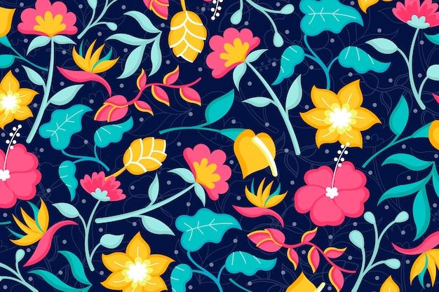Lindo fundo floral exótico