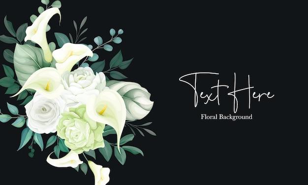Lindo fundo floral lírio branco e rosa