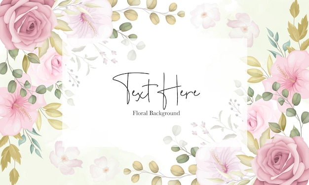 Lindo fundo floral suave com flores rosa empoeiradas