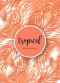 Lindo fundo tropical