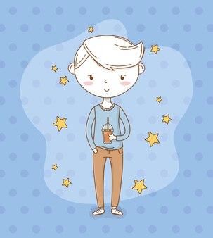 Lindo garotinho com estrelas