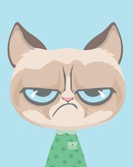 Lindo gato mal-humorado.