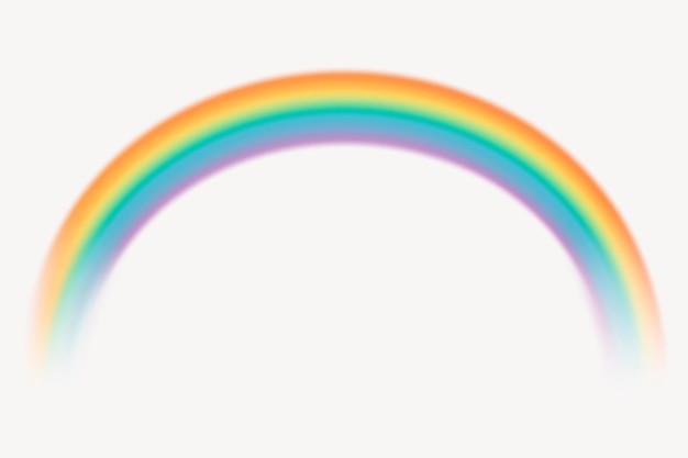 Lindo gráfico de elemento de arco-íris