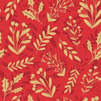 Lindo inverno natal, ano novo, floral, sem costura, fundo, azevinho, azevinho, azevinho, azevinho, azevinho