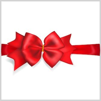 Lindo laço vermelho com fita horizontal