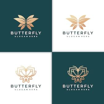 Lindo logotipo de borboleta