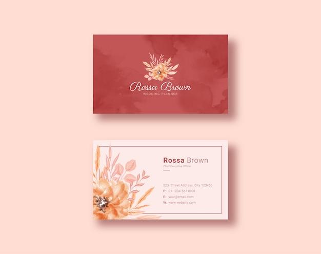 Lindo modelo de cartão floral
