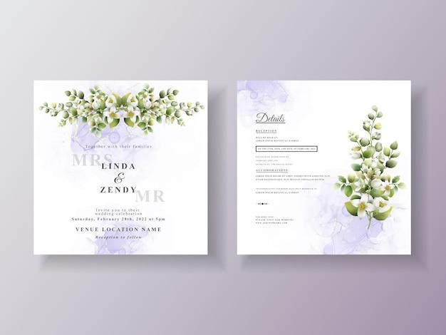 Lindo modelo de convite de casamento floral