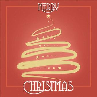 Lindo modelo de design de cartão dourado elegante feliz natal
