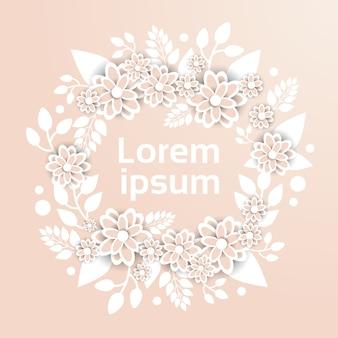 Lindo modelo ornamento floral em flores de cores pastel