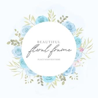 Lindo ornamento floral de cor suave para modelo de cartão de convite