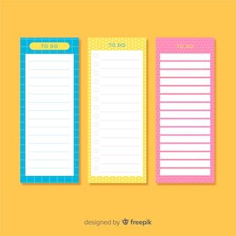 Lindo pacote de listas de tarefas