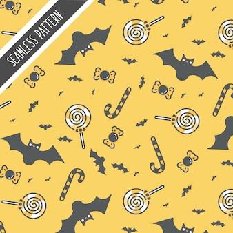 Lindo padrão de halloween