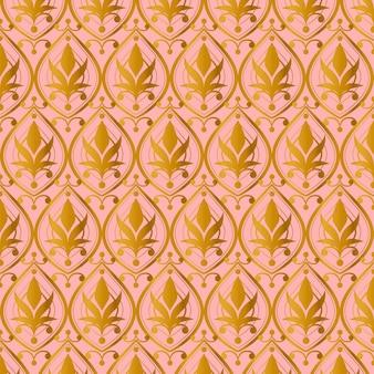 Lindo padrão de ouro rosa