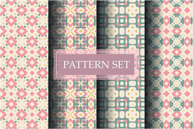 Lindo padrão decorativo definido com estilo abstrato