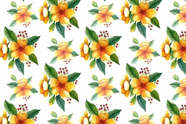 Lindo padrão floral de fundo