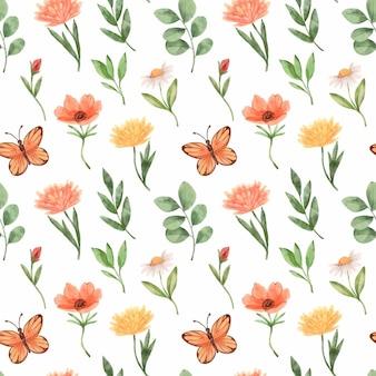 Lindo padrão floral de primavera