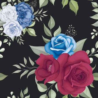 Lindo padrão floral sem costura com rosas