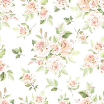 Lindo padrão floral sem costura