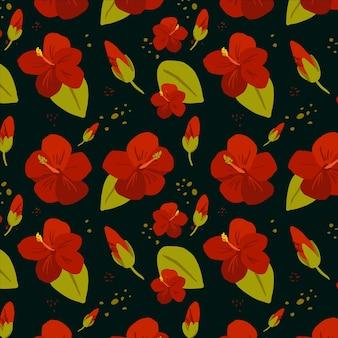 Lindo padrão floral tropical