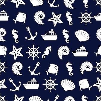 Lindo padrão marinho