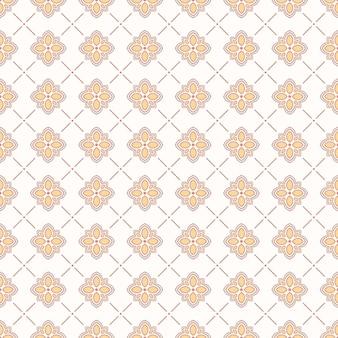 Lindo padrão retro sem costura com florzinhas fofas