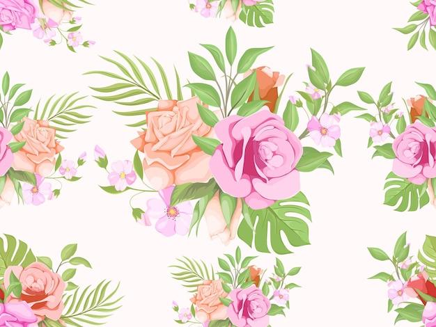Lindo padrão sem emenda floral de verão