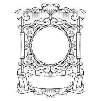 Lindo quadro barroco com espaço em branco