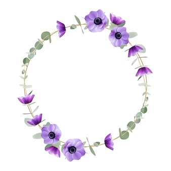 Lindo quadro com flores florais anêmona
