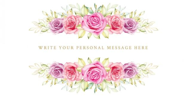 Lindo quadro com flores românticas