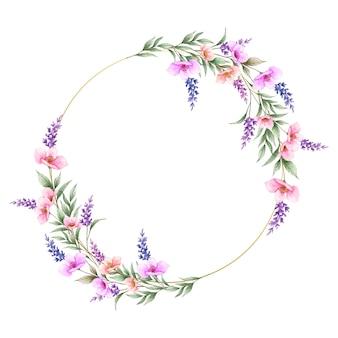 Lindo quadro de flores silvestres