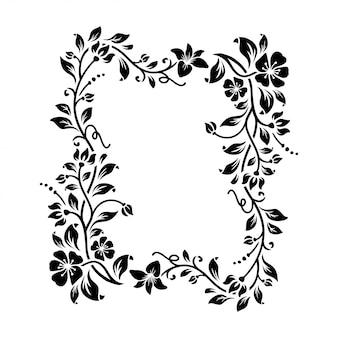 Lindo quadro floral com espaço em branco