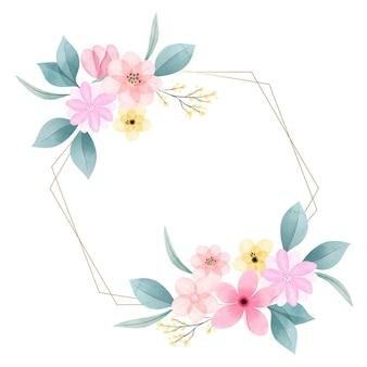 Lindo quadro floral de primavera pintado à mão