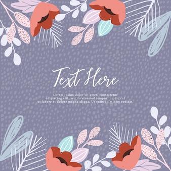 Lindo quadro floral e plano de fundo texturizado