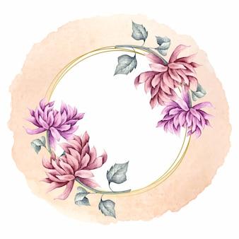 Lindo quadro floral para cartão de dia dos namorados