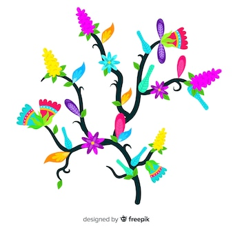 Lindo ramo floral com design plano