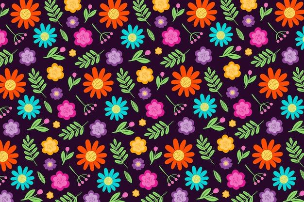 Lindo servindo floral impressão fundo