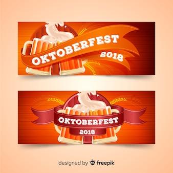Lindos banners de oktoberfest