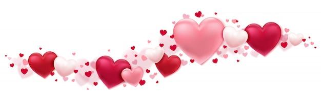 Lindos corações em movimento