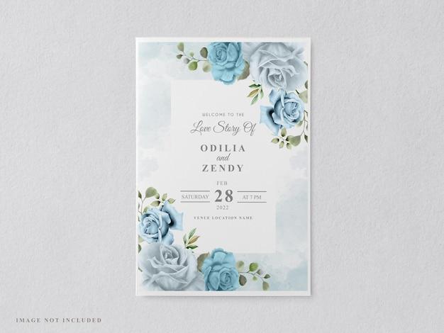 Lindos e elegantes modelos de cartão de convite de casamento floral