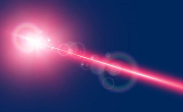 Lindos feixes de laser brilhantes em um fundo transparente. laser do scanner.