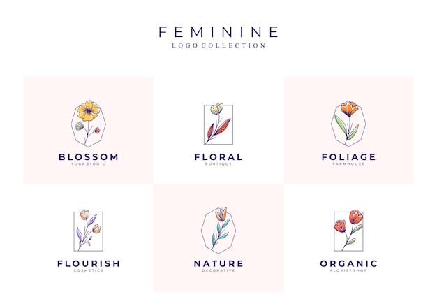 Lindos logotipos florais
