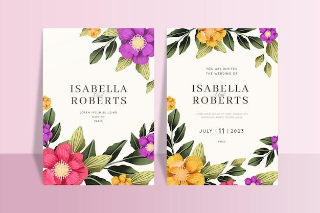 Lindos modelos de cartões florais de remoção de ervas daninhas