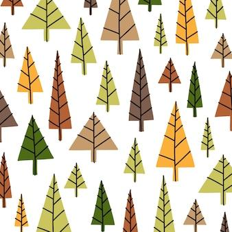 Lindos padrões de árvores decorativas de natal