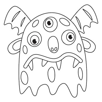 Line art drawing for kids coloring page