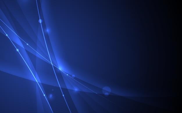 Linha abstrata fundo do azul do elemento da curva.