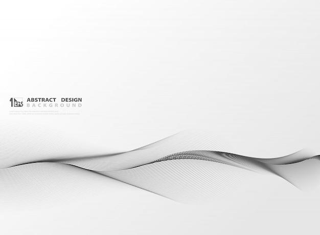 Linha abstrata grande listra ondulada de decoração.