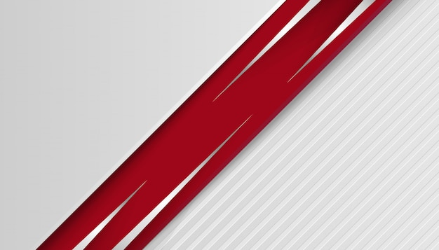 Linha abstrata luz prata com camadas sobrepostas vermelhas