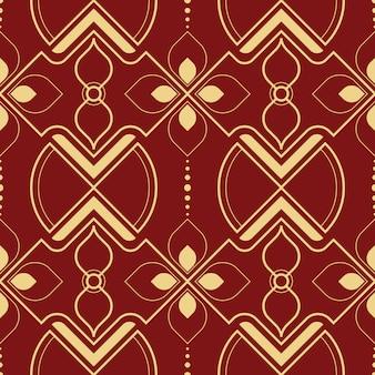 Linha abstrata sem costura padrão geométrico tailandês