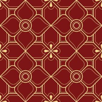 Linha abstrata tailandesa padrão geométrico